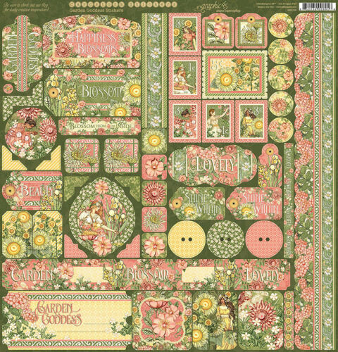 Graphic 45 Garden Goddess Collection 12 x 12 Cardstock Stickers 4501758