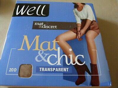 4 42-46 Transparent 20d Well Frankreich Neu Kleidung & Accessoires 2 Paar Strumpfhosen Mat & Chic Gr Socken & Strümpfe