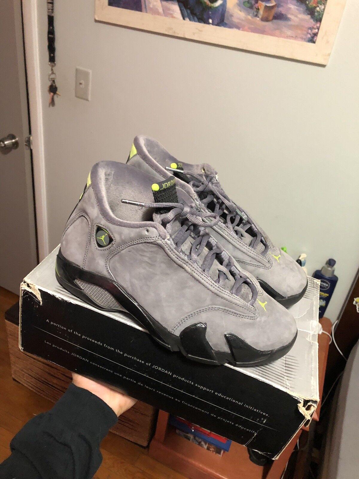 d7952d78149f Nike Air Jordan 14 Chartreuse Sz 7.5 Bape Supreme Lot Lot Lot b64671 ...