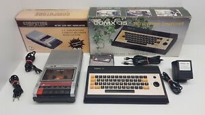 Comx-35 [Boxed] with tapedeck. Tested & works fine. RCA 1802. Super Rare. Games!