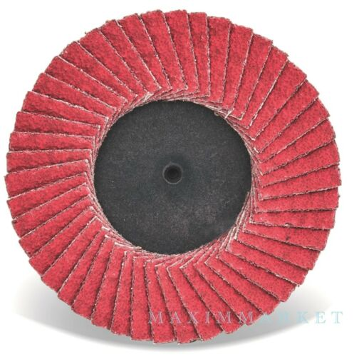 "3/"" Roll-on CGW  C3 Ceramic Mini Flap Disc Wheel Choice of Grit Box of 10"