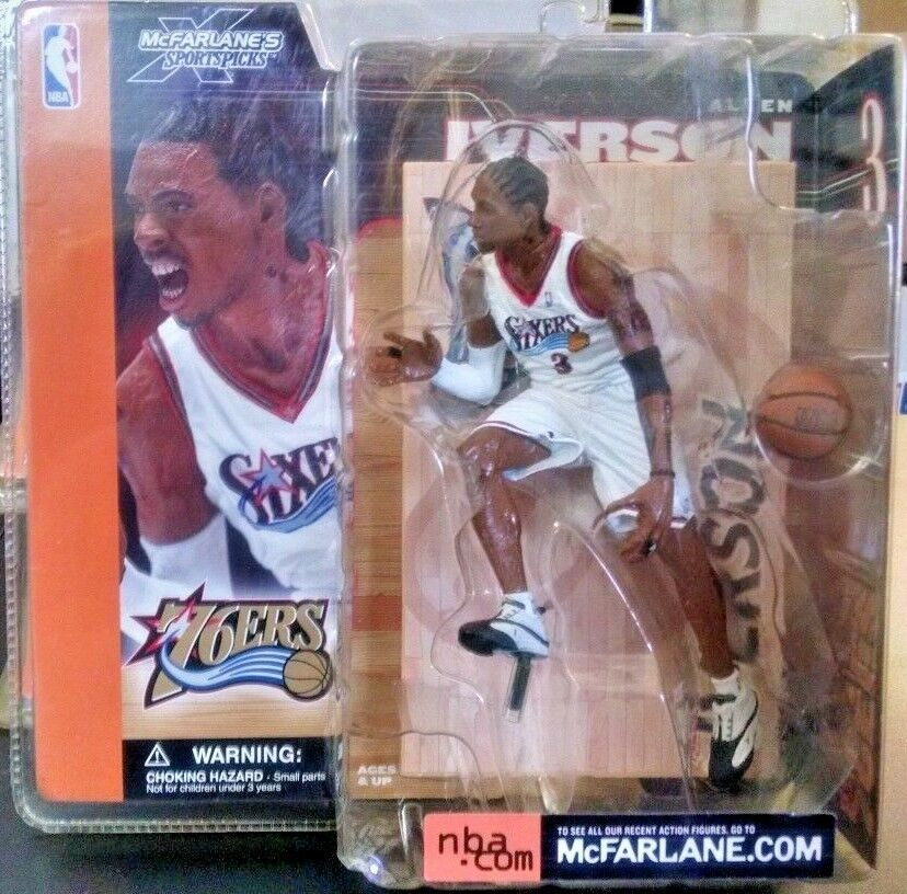 2002-03 McFarlane Basketball Series 1  51 Allen Iverson White Mouth Closed Varia