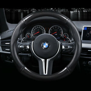 Universal-Size-M-38cm15-034-Carbon-Fiber-Car-Steering-Wheel-Cover-For-BMW-Series