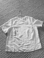 Tog Shop White Cropped Blouse Silky Size 10nwt