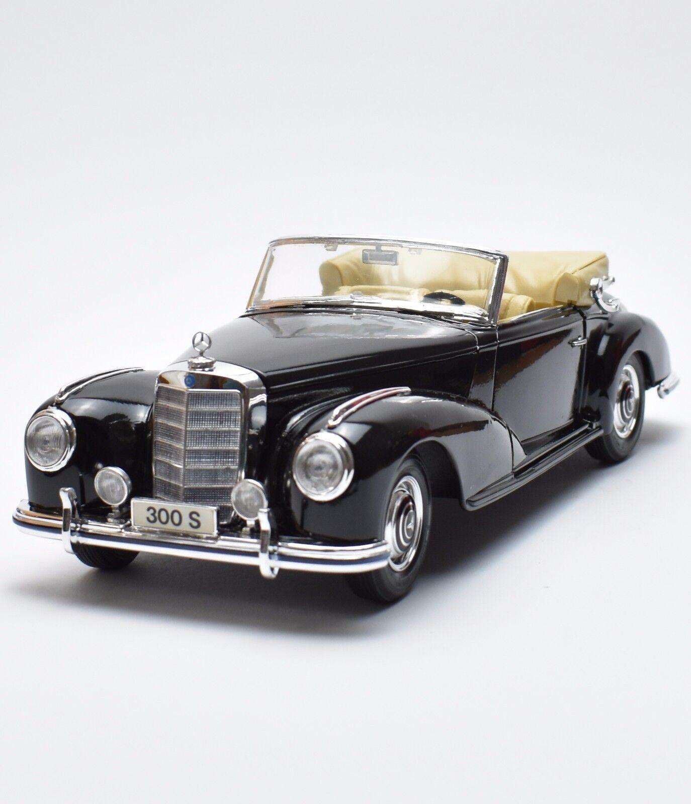Classique Mercedes Benz 300 S Oldtimer Laqué Noir, Maisto, neuf dans sa boîte, 1 18, k020