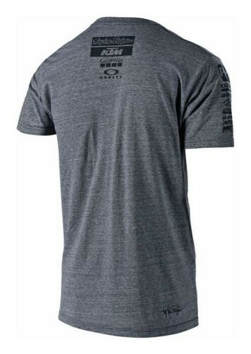 TROY LEE DESIGNS TLD TEAM KTM YOUTH T SHIRT CHARCOAL GREY MOTOCROSS MX TOP KIDS