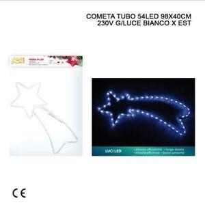 Stella Cadente Di Natale.Stella Cadente Cometa Grande Di Natale Per Esterno Luce 54led Addobbi Natalizi Ebay