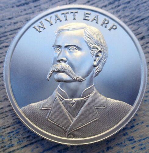 WYATT EARP Wild West Series thick BU rounds .999 fine silver 2 oz