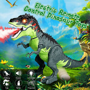 Electric-Remote-Control-Walking-Dinosaur-Toys-Dinosaur-Spray-Lay-Egg-Kid-Gift-AU