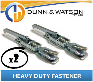Heavy-Duty-Over-Center-Fastener-x2-Lock-Latch-handle-Trailer-Tray-Weld-On