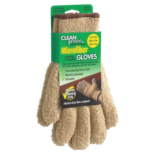 Master Caster Clean Green Microfiber Dusting Gloves - Machine Washable,
