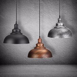 Vintage-Industrial-Retro-Ceiling-Pendant-Lampshade-Metal-Hanging-Rustic-Colours