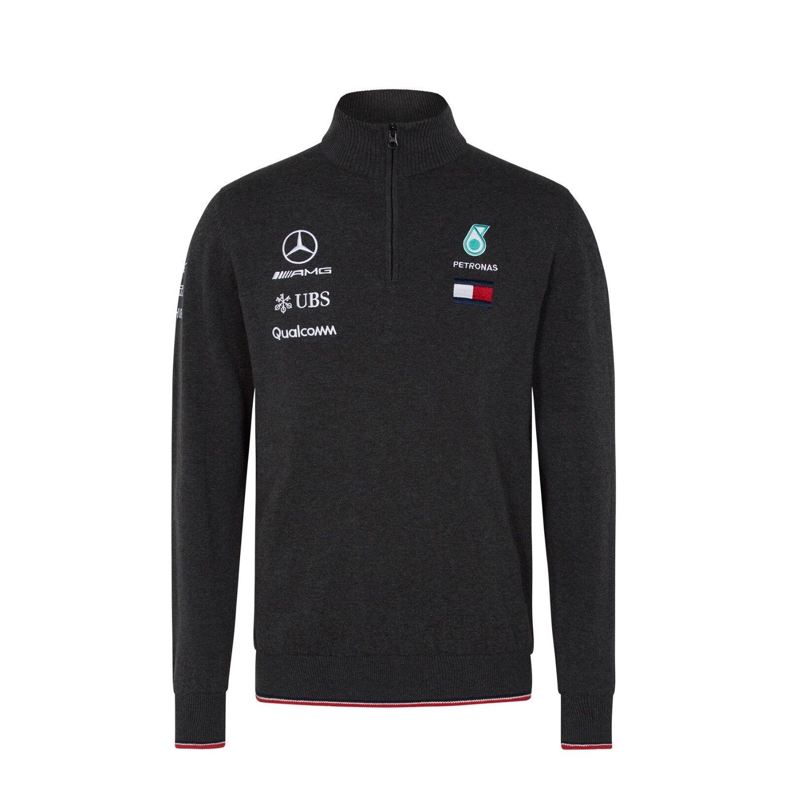 2018 MERCEDES AMG F1 Team Lewis Hamilton Zip a Maglia Maglione Pullover Top  vendita