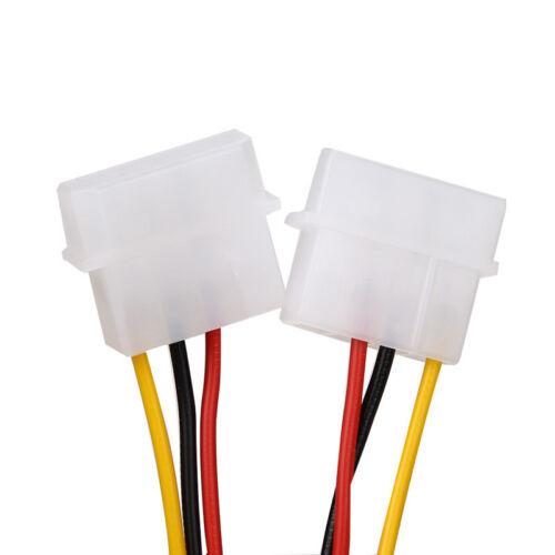 "2PCS 4Pin IDE Molex To Serial ATA SATA HDD Power Adapter Cable 6/"" High Quality"