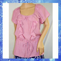 Banana Republic Lavender Ruffle Top Blouse Size S $69.50