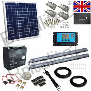 Details About Solar Lighting Kit 2 X Led Strip Lights 50w Panel With Battery 12v