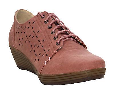 Mujer Damas Tacón De cuña Mocasines Formales Con Cordones De Trabajo De Oficina Cómodos Zapatos informales