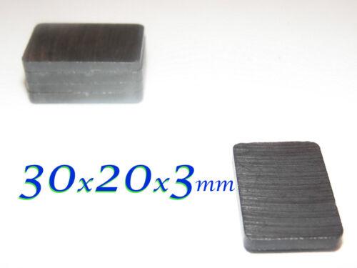 50 pezzi  30x20x3mm MAGNETE in FERRITE  Y30BH  rettangolare blocchetto MAGNETI