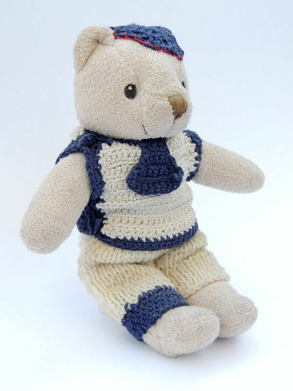 Cute Vintage Antique Collectables Toy Teddy Bear for Kids Handmade Suit 10