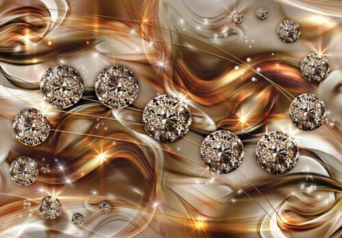 Nappes Papier peint 3d Abstrait Art Diamant Gold Optique Chambre Papier Peint XXL 24