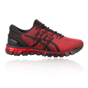Asics Homme Gel-Quantum 360 4 Chaussures De Course Baskets Sneakers Noir Sport Rouge