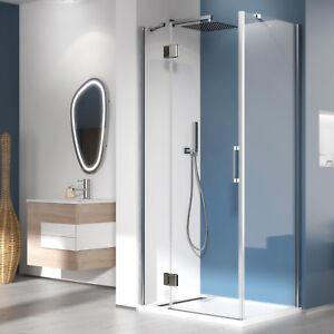 Box doccia 90x90 porta battente con parete fissa in cristallo ...