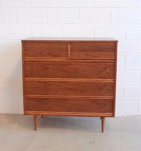 Fully restored Harmony House high boy dresser - vintage mid ...