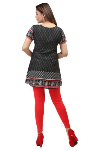 Women Casual Indian Short Embroidery Kurti Tunic Kurta Dress 176A UK STOCK