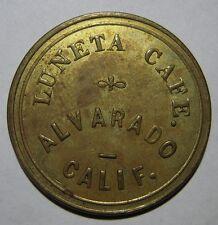 "Alvarado California ""Luneta Cafe"" 50C Trade Token - Union City, Calif"