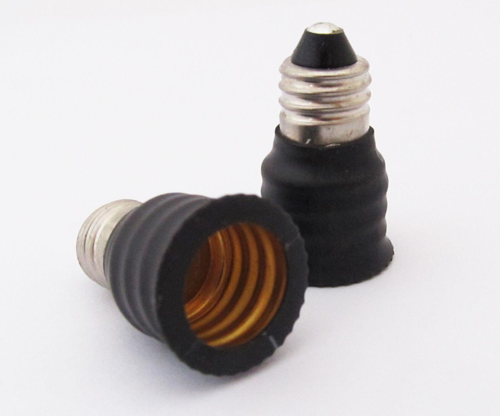 4pcs E11 Male to E14 Female Base LED Light Bulb Adapter Holder Socket Converter