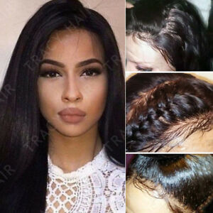 Brazilian Human Hair Wig Silky Straight Lace Front Wigs for Black ... 67fd64267
