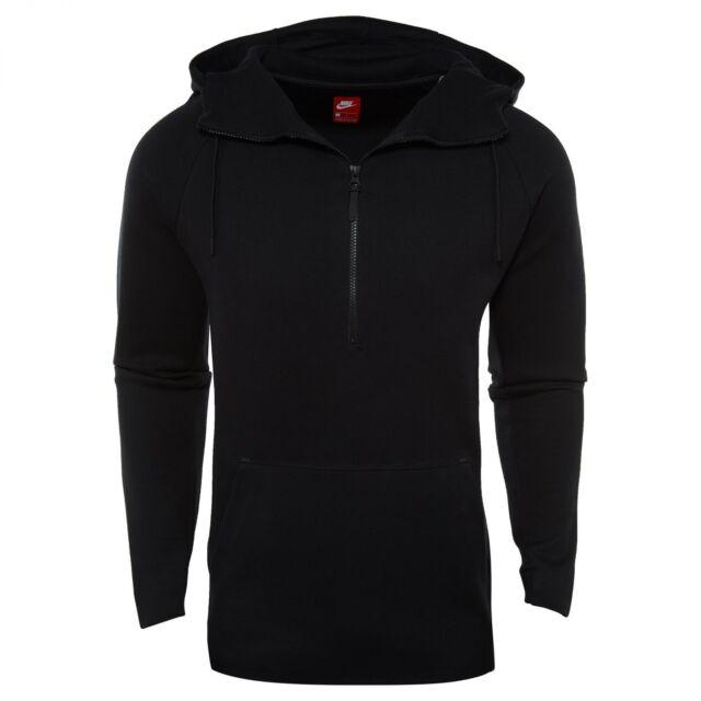 bc7956777a7b Nike Sportswear Tech Fleece Half Zip Hoodie Mens 884892-010 Black Hoody  Size 2XL