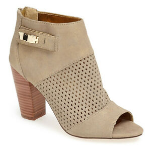 NEW DV by Dolce Vita Marana NUDE/Metallic gold Suede Ankle