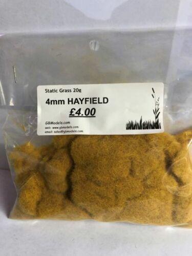 Static Grass//Flock for Static Grass Applicator 4mm Hayfield 20g bag