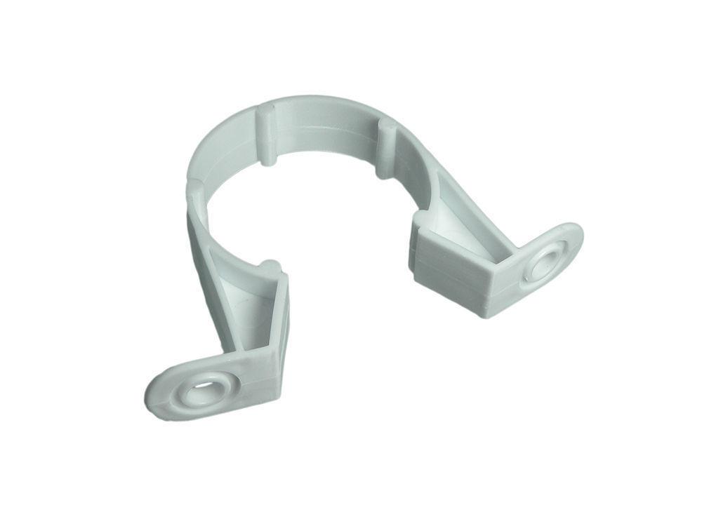 Pk 48 Compresión Residuos 3.2cm Clips Tubo Weiß Soporte Plástico