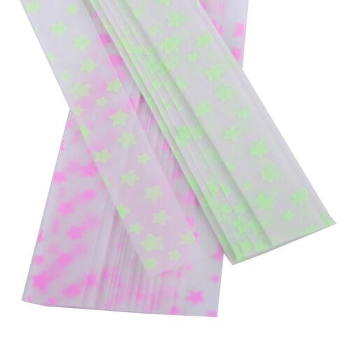 100x Beleuchtete Stern-Papierstreifen Flechtstreifen Faltende Fröbelsterne MIXED