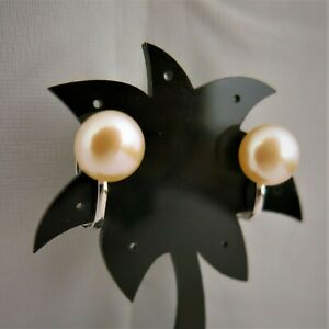 Ohrclips-mit-echten-grossen-Perlen-10mm-Rosa-Rose-Weissvergoldet-nickelfrei