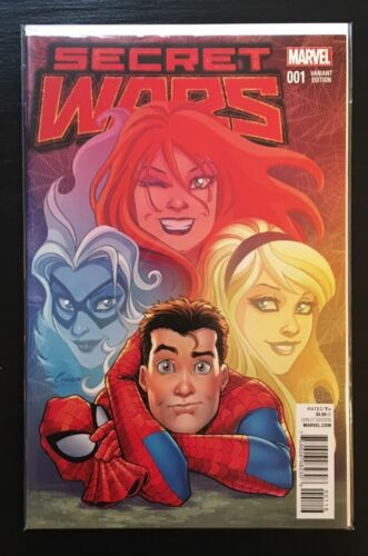 SECRET WARS #1 SPIDER-MAN VARIANT NEAR MINT 2015 UNREAD COPY #cdec16-2410