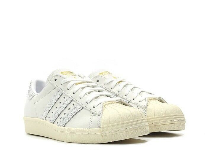 Adidas Originals Superstar 80s BY9075 Women's Shoes Snake Effect BY9075 80s White Size 6.5 d3163a