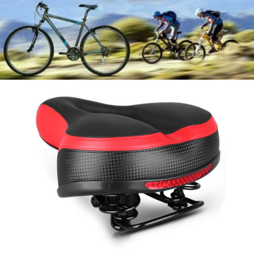 Replacement Sporty Soft Comfort Wide Bike Saddle Seat Big Bum Bicycle Gel Pad