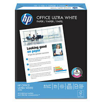 Hp Office Ultra-white Paper, 92 Bright, 20lb, 8-1/2 X 11, 500/ream, 10/carton on sale