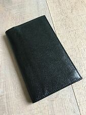 FILOFAX Slimline Kensington Black Leather Personal Organizer Agenda New VTG