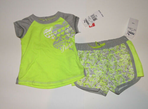 18M or 24M NWT PUMA  Girls 2 Piece Short Outfit Set INFANT Girl  12M