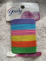 30 Goody Jonel Elastic Bright Color Small Thin Hair Bands Ponytailers With Metal