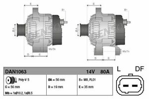 DENSO-ALTERNATOR-FOR-A-PEUGEOT-306-CONVERTIBLE-1-6-72KW