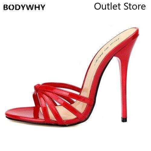 Women Plus Size Slippers High Heels Flip Flops Drag Queen Super High-heeled 13cm