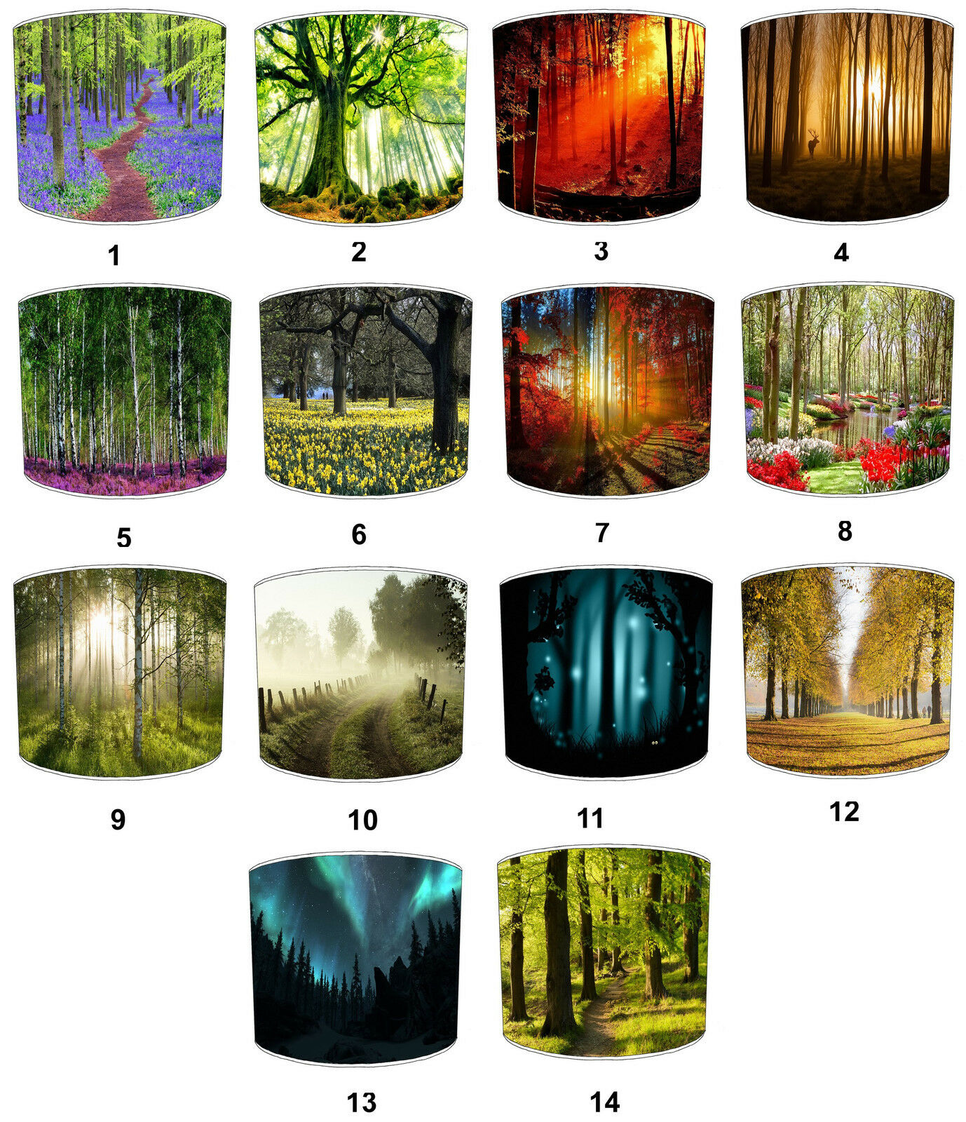 Countryside Lampshades, Ideal To Match Countryside Bedding Sets & Duvet Covers.