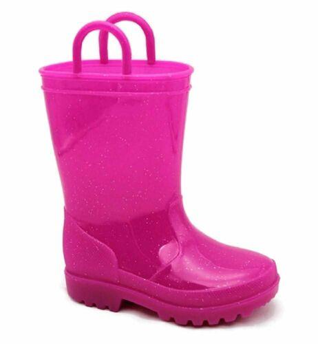 Kids Toddler//Little Kid//Big Kid Rain Boots Storm Kidz Girls Glitter Rainboots
