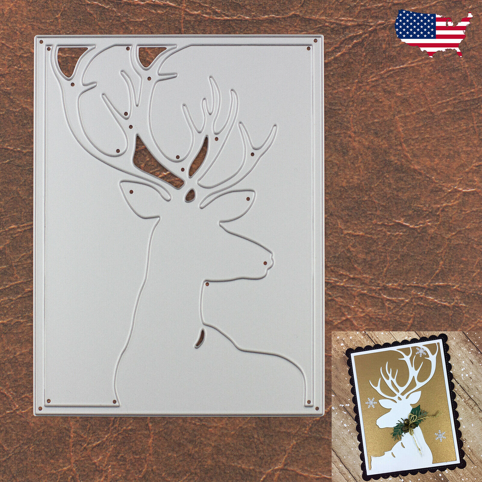 Love You Deerly Reindeer Duo w Hearts Cutting Dies Christmas Valentine's Day