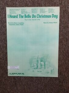 Johnny Cash I Heard The Bells On Christmas Day.Details About I Heard The Bells On Christmas Day Piano Sheet Music